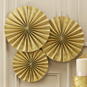 Papir rosetter i guld farve