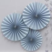Papir rosetter sky-blå