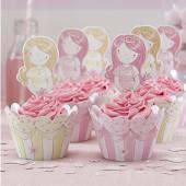 Prinsessa - cupcake dekorationsset