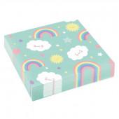 Rainbow & Cloud servietter