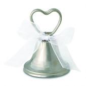 sølv bordkortholder med hjerte og kysseklokke