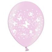 Balloner i pink med hvide sommerfugle