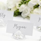 Bordkort holder - klar diamant