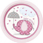 Pink elefant paptallerkner