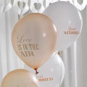 Vintage balloner til bryllup i guld og creme