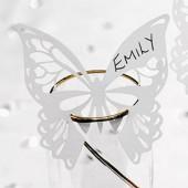 Eleganta fjärilsplaceringskort