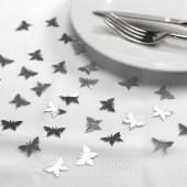 Konfetti med fjärilar- silver